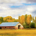Autumn Barn by TL Mair