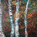 Autumn Birch by Nadine Rippelmeyer