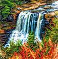Autumn Blackwater Falls - Paint 3 by Steve Harrington