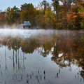 Autumn Boathouse by Bill Wakeley