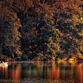 Autumn Boating At Argyle Lake by Thomas Woolworth
