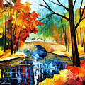 Autumn Calm 2 - Palette Knife Oil Painting On Canvas By Leonid Afremov by Leonid Afremov