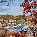 Autumn Cascades On The Potomac by Lynn Bauer