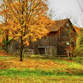 Autumn Catskill Barn by Deborah Benoit