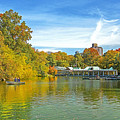 Autumn Central Park Lake And Boathouse by Regina Geoghan