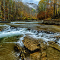 Autumn Cherry Falls Elk River by Thomas R Fletcher