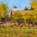 Autumn Church Taos by Spike Ress