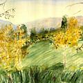 Autumn Color - A Watercolor by Eleanor Robinson