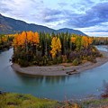Autumn Colors Along Tanzilla River In Northern British Columbia by Mark Duffy