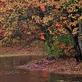 Autumn Colors By The Pond by Linda Crockett