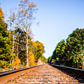 Autumn Colors By The Tracks by Parker Cunningham
