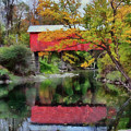 Autumn Colors Over Slaughterhouse. by Jeff Folger