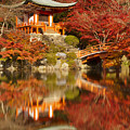 Autumn Colours At Daigo-ji Temple In Kyoto In Japan by Sara Winter