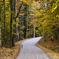 Autumn Country Road by John Greim