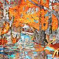 Autumn Deer Birch Background by Ken Figurski