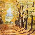 Autumn Evening by Shirley Miller