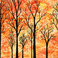 Autumn Forest Abstract  by Irina Sztukowski