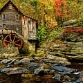 Autumn Glade Creek Grist Mill  by Thomas R Fletcher