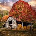 Autumn Hay Barn by Debra and Dave Vanderlaan
