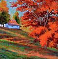Autumn Hillside by Keith Burgess
