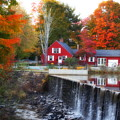 Autumn House At The Falls by Marcel  J Goetz  Sr