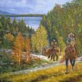 Autumn In Big Bear, 18x24, Oil, '08 by Lac Buffamonti