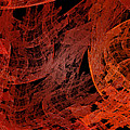 Autumn In Space Abstract Pano 1 by Andee Design