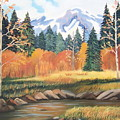 Autumn In The Mountans by Ruth  Housley
