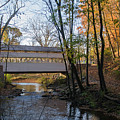 Autumn In Valley Forge - Knox Covered Bridge by Bill Cannon