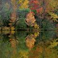 Autumn Lagoon Reflection  by Dan Farmer