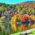 Autumn Lake by Karin Everhart