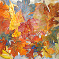 autumn Leaves Collage III by Joyce Kanyuk