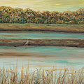 Autumn Marsh And Bird by Nadine Rippelmeyer
