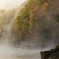 Autumn Mist On Dale Hollow Lake by Paul Rebmann