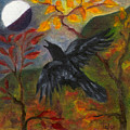 Autumn Moon Raven by FT McKinstry