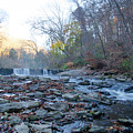 Autumn Morning Along The Wissahickon Creek by Bill Cannon