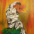 Autumn Muscovy Portrait by Maria Urso