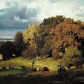 Autumn Oaks , George Inness by George Inness
