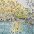 Autumn On The Ausable River by Peggy King