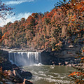 Autumn On The Cumberland  Cumberland Falls by Ken Frischkorn