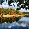 Autumn On The Lake  by Kathy Kmonicek