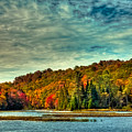 Autumn On The Moose River In Thendara by David Patterson
