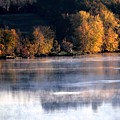 Autumn On Wisconsin River by Karen Majkrzak