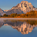 Autumn Oxbow Bend Reflections by Adam Jewell