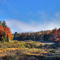 Autumn Panorama At The Green Bridge by David Patterson
