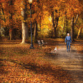 Autumn - People - A Walk In The Park by Mike Savad