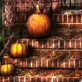 Autumn - Pumpkin - Three Pumpkins by Mike Savad