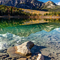 Autumn Reflection Of Pyramid Mountain by Pierre Leclerc Photography
