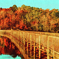 Autumn Reflections In Newport News Park by Ola Allen