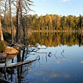 Autumn Reflections On Little Bass Lake by Larry Ricker